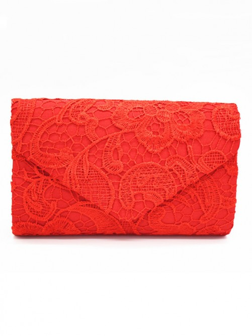 Lace Evening/Party Handbags with Flowers