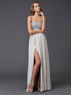 A-line/Princess Ankle-length Sweetheart Chiffon Dress