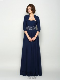 A-Line/Princess Chiffon Sweetheart Floor-Length Mother of the Bride Dress