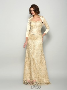 A-Line/Princess Satin Floor-Length Sweetheart Mother of the Bride Dress