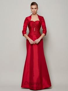 A-Line/Princess Sweetheart Floor-Length Taffeta Dress