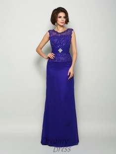 A-Line/Princess V-neck Chiffon Floor-Length Mother of the Bride Dress