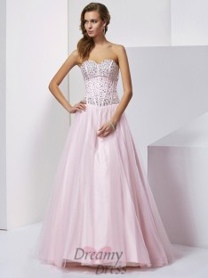 Ball Gown Sweetheart Floor-Length Satin Dress