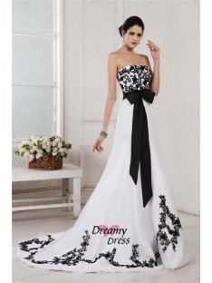 A-Line Sweetheart Sash Long Net Satin Wedding Dress
