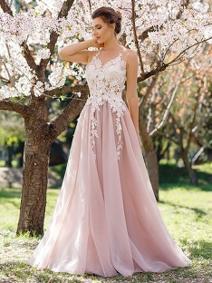 A-Line/Princess Floor-Length Tulle Dress