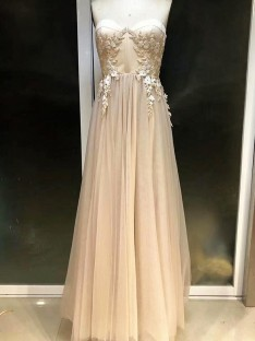 Empire Sweetheart Floor-Length Tulle Dress