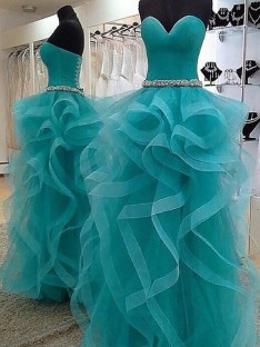 Ball Gown Sweetheart Floor-Length Tulle Dress