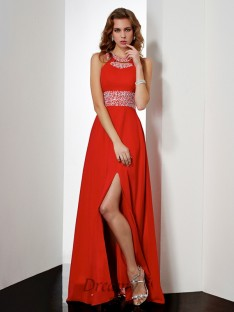 Empire Jewel Floor-length Acrylic Jewels Dress