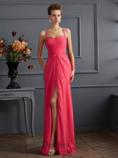 Empire Sweetheart Chiffon Floor-length Dress