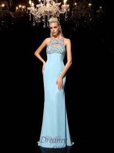 Sheath/Column Chiffon Long Dress