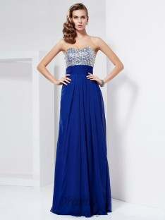 Sheath/Column Floor-Length Sweetheart Chiffon Dress