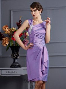 Sheath/Column Taffeta Knee-Length Bridesmaid Dress