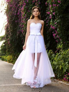 Trumpet/Mermaid Floor-Length Sweetheart Tulle Wedding Dress
