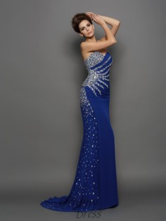 Trumpet/Mermaid Sweetheart Chiffon Court Train Dress