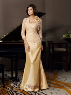 Trumpet/Mermaid Sweetheart Floor-Length Taffeta  Mother of the Bride Dress
