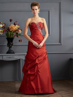 Trumpet/Mermaid Sweetheart Floor-length Taffeta Dress