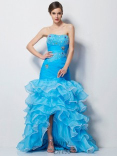 Trumpet/Mermaid Sweetheart Tulle Asymmetrical Dress